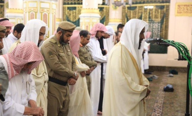 Imam inaugurates move back to the Prophet's Mihrab